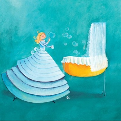 marie-cardouat-square-card-14-cm-les-bulles-de-coeurs-sur-le-berceau
