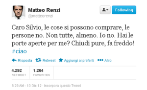 RenziTweetBerlusconi