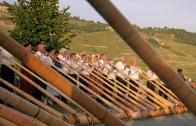 Alphoerner statt Hellebarden: Alphoernspieler in Cully