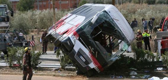 At least 14 Erasmus students die in a coach crash in Tarragona