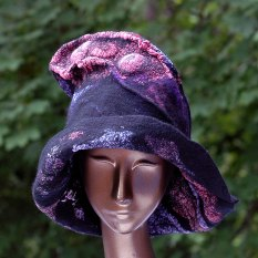 nunofelted-wizard-hat-in-black-and-jewel-tones