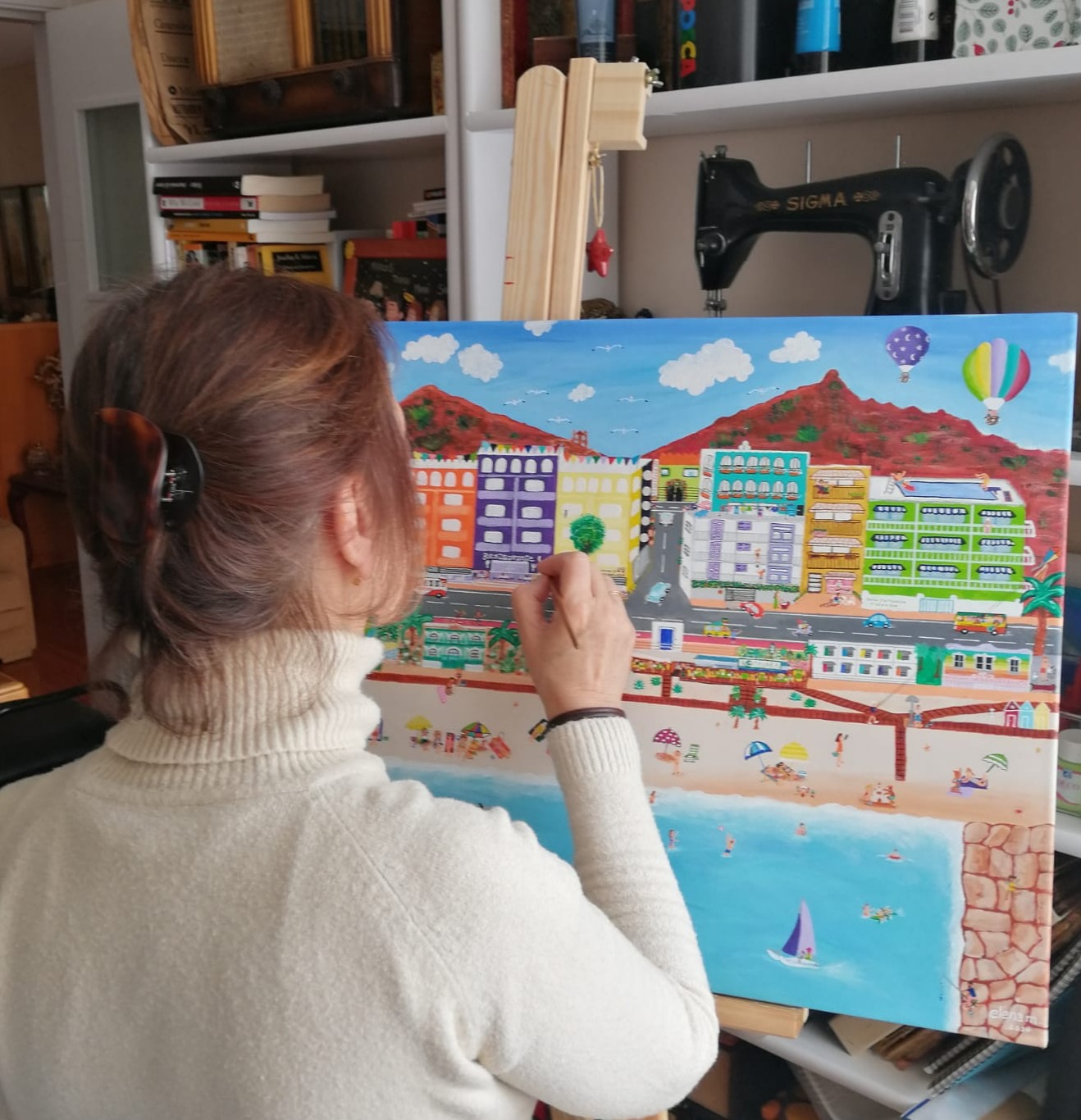 Elena MAALI pintando